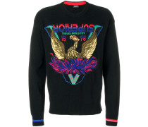 Superior eagle patch sweater