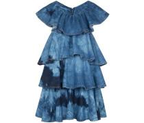 Minikleid im Batik-Look