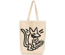 """Canvas-Shopper mit """"Stinky Rat""""-Print"""