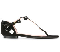 Sandalen mit floraler Applikation - women