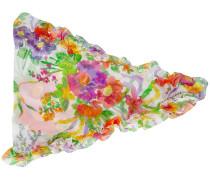 Seidenkopftuch mit Blütenmuster