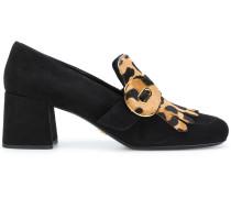 Loafer mit Kalbshaar-Zierlasche