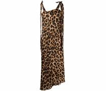 Asymmetrisches Kleid mit Leoparden-Print