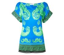 structured greek-key blouse