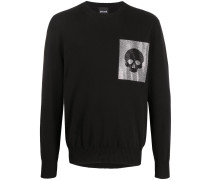 Pullover mit Totenkopf-Patch