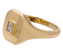 Baguette Pinky Ring mit Diamant