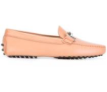 Loafer mit silberfarbenen Logo-Spangen