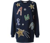 beaded embroidered oversize sweatshirt