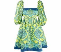 paisley flared mini dress