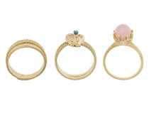 Puro Satyr set of three rings