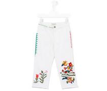 Jeans mit Stickerei - kids - Baumwolle/Elastan