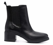 slip-on leather ankle boots