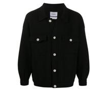 oversized knitted denim jacket
