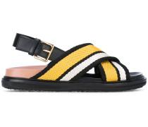 - 'Fussbett' Sandalen mit überkreuzten Riemen