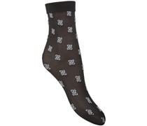 Socken mit Karligraphy-Logos