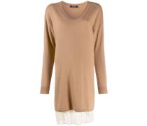 Pulloverkleid im Layering-Look