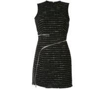 Tweed-Kleid mit Reißverschluss