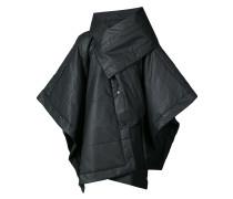 asymmetric windbreaker coat