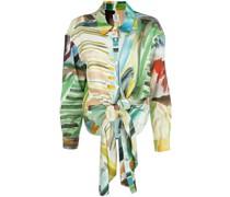 Bluse mit Aquarell-Print