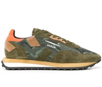 camouflage print panel sneakers