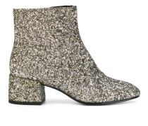 glittery ankle boots