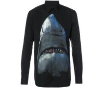 Sweatshirt mit Haifisch-Print
