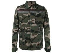 Jeansjacke mit Camouflage-Print - men