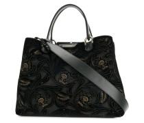 Handtasche mit floralem Muster
