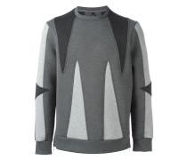 Sweatshirt mit geometrischem Einsatz