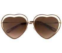 Sonnenbrille mit herzförmigen Gläsern