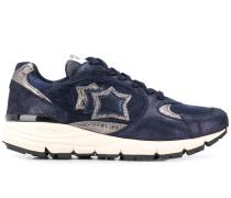 'Mira' Sneakers mit Metallic-Einsätzen