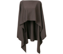 asymmetric poncho pullover