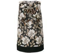 Jacquard-Kleid mit Perlenstickerei