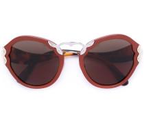 - oversized sunglasses - women - Acetat/metal - 54