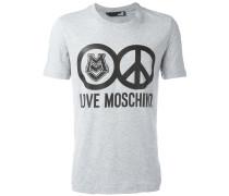 T-Shirt mit Friedenszeichen-Print