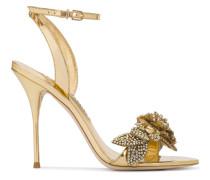 Gold Leather lilico embellished 110 sandals