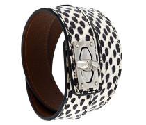 'Shark Lock' Armband aus Schlangenleder