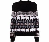 Intarsien-Pullover mit Schafen