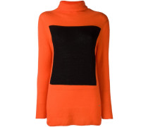 Rollkragenpullover in Colour-Block-Optik