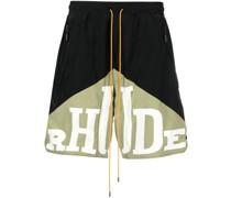 logo-print two-tone deck shorts