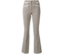houndstooth pattern trousers