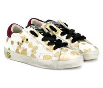 Superstar glittered heart sneakers