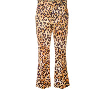 Cropped-Hose mit Leoparden-Print