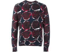 Sweatshirt mit Rosen-Prints