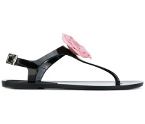 Sandalen mit Blumenapplikation - women