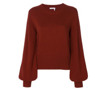 balloon sleeved cashmere pullover