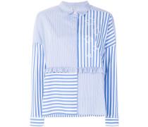 striped colour-block blouse