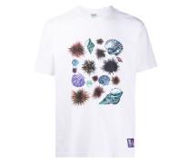 T-Shirt mit Muschel-Print
