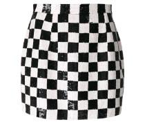 sequins check mini skirt