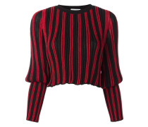 Langärmeliger Pullover mit gestreiftem Design